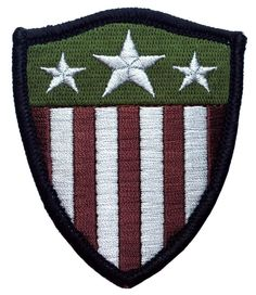 Velcro Captain America shield Camo Stars US flag Applique 3 inch Patch by PatchCosmos on Etsy