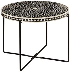 Regina Bone Inlay Side Table – High Fashion Home Mosaic Outdoor Table, Mosaic Coffee Table, Outdoor Table Tops, Mosaic Table Tops, Mosaic Tile Table, Center Table, A Table, Mosaic Diy, Cocktail Tables
