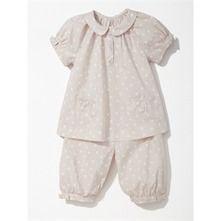 Pyjama pois rose pâle