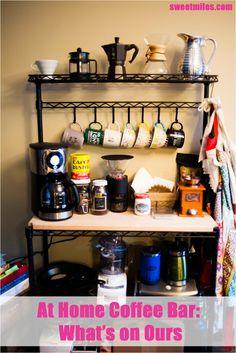 Bakers Rack Coffee Bar Decor