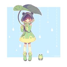 e-shuushuu kawaii and moe anime image board Cute Girl Drawing, Cute Drawings, Sakura Kinomoto, Sakura Card Captor, Character Art, Character Design, Frog Pictures, Frog Art, Clear Card