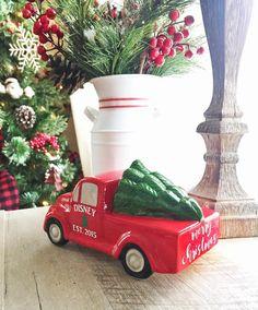 I'm so excited about my personalized truck vinyl from @walkbyfaithdesigns !! #redtruck #truckvinyl #christmastruck #farmhousechristmas #farmhousestyle #farmhousefresh #seasonsofsimplicity #farmhousesimplicity #falalafarmhouse #deckthehallswithdecor #decorate4theseason #christmaseve