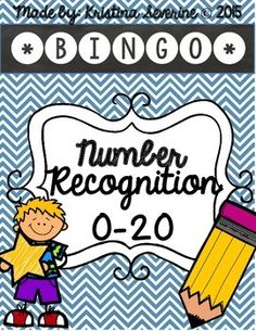 Number Recognition Bingo {0-20} can be used to help your students number recognition skills. *Features 4 colorful chevron backgrounds.  *Numbers 0-20 *Great to use as a game or in small groups. *Perfect for Kindergarten and 1st grade review.
