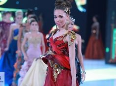 Miss Martinique. | 37 Over-The-Top Evening Gowns From The 2013 Miss World Fashion Show