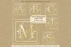 Monograms Light Gold By Marcy Coate