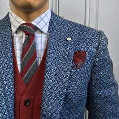More patterns than your Grandma's quilt. Gentleman Mode, Gentleman Style, Sharp Dressed Man, Well Dressed Men, Mens Fashion, Fashion Outfits, Suit Fashion, Luxury Fashion, Dapper Dan