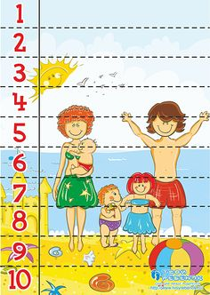 * Puzzel: strand! Kids Learning Activities, Summer Activities For Kids, Games For Kids, Preschool Summer Camp, Preschool Art, Number Puzzles, Maths Puzzles, Preschool Assessment, Family Theme