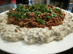 Syrian Foodie in London: One Humndred and One Mezze: Batersh gacomole recipes ; Easy Lebanese Recipes, Turkish Recipes, Ethnic Recipes, Syrian Recipes, Arabic Recipes, Middle East Food, Middle Eastern Recipes, Vegetarian Recepies, Endive Recipes