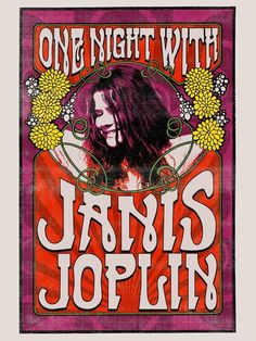 Gatsbe Exchange Made in USA not China - ONE Night with Janis Joplin Musician Concert Poster Rock and Roll Legends Live Forever 12 X 18 Poster Retro, Vintage Concert Posters, Vintage Posters, Poster Poster, Janis Joplin, Rock And Roll, Rock Posters, Band Posters, Poster Sport