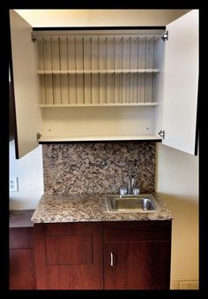 At MY SALON Suite, every hair suite has a separate color bar, with color tube storage, stainless steel sink, and luxurious granite countertop and backsplash! So you will never have to mix color in the same sink you shampoo hair in!