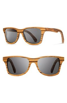 Shwood 'Canby' 54mm Wood Sunglasses