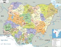 nigeria | The Federal Republic of Nigeria Map - Political Map of Nigeria