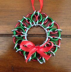 Chainmail Wreath Christmas Tree Ornament