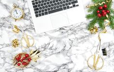 Christmas decoration Office desk JPG by LiliGraphie on @creativemarket