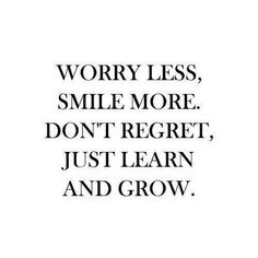 Just learn and grow