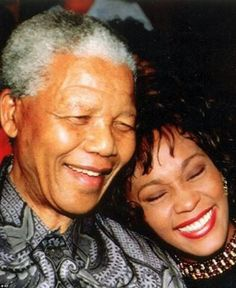Black History Month: Whitney Houston and Nelson Mandela Whitney Houston, Nelson Mandela, Pink Floyd, Michael Jackson, Black Is Beautiful, Beautiful People, Beautiful Kids, Beautiful Voice, Amazing People
