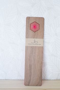 Embroidered, laser cut wooden bookmarks