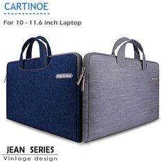 Cartinoe Notebook Laptop Sleeve Briefcase Inner Bag for 10  -  11.6 inch MacBook Air Lenovo Dell HP Asus Samsung Jean Series Price: USD 16.01   United States