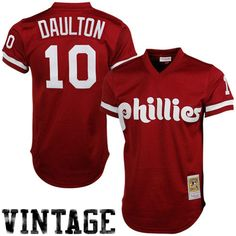 71e55391a Mitchell   Ness Darren Daulton Philadelphia Phillies 1991 Authentic  Throwback Mesh Batting Practice Jersey - Maroon