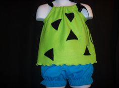 pebbles flintstone long tunic and hairclip by
