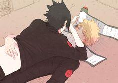 Sasuke e Naruto (SasuNaru) Naruto Vs Sasuke, Anime Naruto, Anime W, Naruto Comic, Naruto Cute, Sarada Uchiha, Sakura And Sasuke, Boruto, Sasunaru