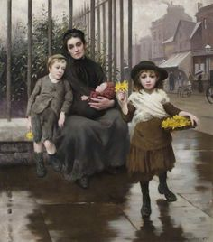 The Pinch of Poverty by Thomas Kennington (1891)