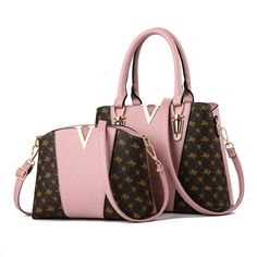 2 PCS Women Bags Set Leather Handbag New Women Tote Bag Ladies Handbags Shoulder Bag for Women 2018 Luxury Messenger Bag Bolsas Louis Vuitton Handbags, Tote Handbags, Purses And Handbags, Ladies Handbags, Cheap Handbags, Soft Leather Handbags, Leather Purses, Victoria, Crossbody Messenger Bag