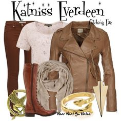 """Katniss Everdeen (Hunger Games - Catching Fire)"" by wearwhatyouwatch on Polyvore"