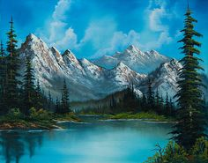 Choose your favorite bob ross paintings from millions of available designs. All bob ross paintings ship within 48 hours and include a money-back guarantee. Pinturas Bob Ross, Mountain Paintings, Nature Paintings, Landscape Paintings, Acrylic Paintings, Painting Of Mountains, Scenery Paintings, Tree Paintings, Original Paintings