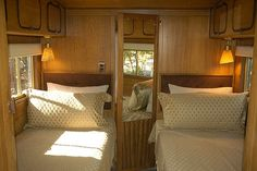 Airfloat Flagship bedroom by Airstream Life, via Flickr