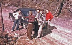 The Gunks Vulgarian crew in West Virginia preparing to explore Schoolhouse Cave circa 1958 From L-R: Horst, Roman Sadowy Claude Suhl, Pete Geiser, Al DeMaria