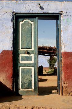 Doorway in Aswan, Egypt. Holidays In Egypt, Portal, The Doors Of Perception, Visit Egypt, Cool Doors, Entrance Doors, Door Knockers, Closed Doors, Door Design