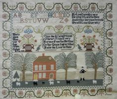 Mary Ann Hoover-1818 :: Sampler Browse :: The Essamplaire