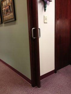 Ada Bathroom Door Opening hinge makes doorways wider for wheelchairs! no need to take off