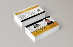 Hotspot Creative Solutions | JBR Inspections Business Cards. There was a lot of information to fit onto this card, so we relied on a strong, defined grid system to keep the card clean and maintained consistency on both sides with imagery and colors.