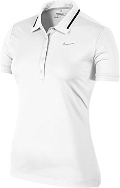 c08e1e8e2007 Nike Womens Icon Swoosh Tech Polo XSmall WhiteSilver *** Check out the  image by visiting the link.(It is Amazon affiliate link) #gamergirls