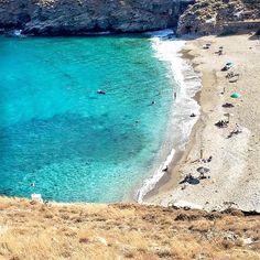 Kea - Tzia island (Κέα - Τζιά). The wonderful Sykamia beach with crystal Green-Blue water ⛱.