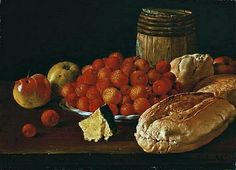 Luis Meléndez  Still Life with Berries, Apples and Bread  18th century