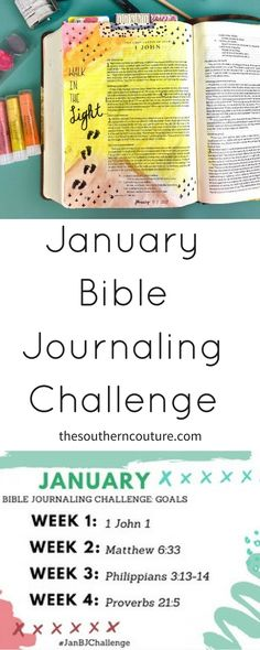 January Bible Journa