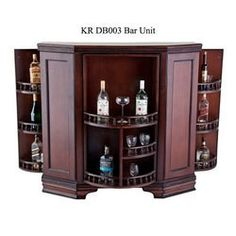 Modern crockery cabinet designs dining room google for Wooden bar unit