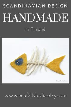Your place to buy and sell all things handmade Fish Skeleton, Felt Fish, Décor Ideas, Wet Felting, Scandinavian Interior, Pet Toys, Finland, Gifts For Him, House Warming