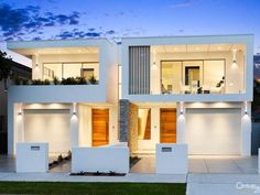 M Cubed Architects - Sydney Duplexes, Designer Houses, Townhouses - Sutherland Shire, Georges River, Bayside Townhouse Exterior, Modern Townhouse, Townhouse Designs, Duplex House Design, Apartment Design, Modern House Design, Duplex Apartment, Modern House Facades, Modern Architecture House