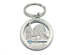 London Keyring Famous London England Landmarks Pendant Silver Gift Key Chain