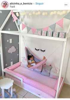 Amazing Nursery Decorating Ideas – Baby Room Design For Chic Parent Renovation – Best Home Ideas and Inspiration - Babyzimmer Baby Bedroom, Baby Room Decor, Girls Bedroom, Girl Room, Bedroom Decor, Girl Toddler Bedroom, Baby Girl Bedroom Ideas, Kids Bedroom Ideas For Girls Toddler, Childrens Bedrooms Girls