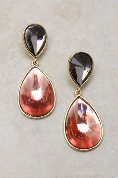 Rose Andrea Teardrop Earrings on Emma Stine Limited