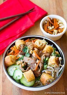 Love this Vietnamese Bun Cha Gio Recipe (Gluten Free!) ASpicyPerspective.com