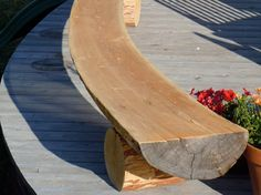 Curved Bench - Half log bench