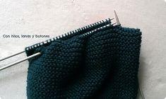 Con hilos, lanas y botones: DIY jersey con capucha para bebé paso a paso (patrón gratis) Baby Kimono, Baby Vest, Baby Knitting Patterns, Knitted Hats, Crafty, Accessories, Labor, Diy, Margarita