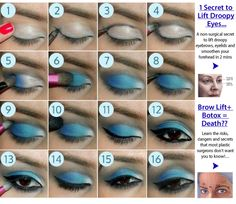 Click image for more details about beauty! Blue eyeshadow tutorial