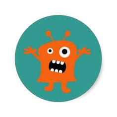 Little Monster Round Sticker